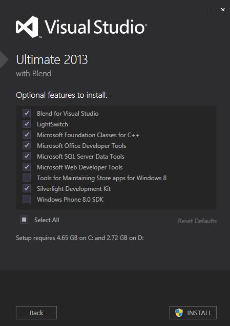 Visual Studio 2012 - Ultimate 3 new