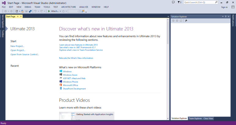 Visual Studio 2012 - Ultimate 9