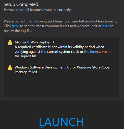 Visual Studio 2012 - Ultimate Error 5