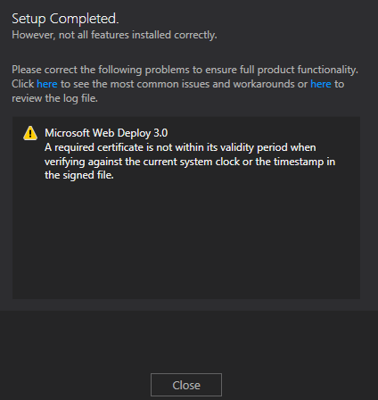 Visual Studio 2012 - Ultimate Error 7