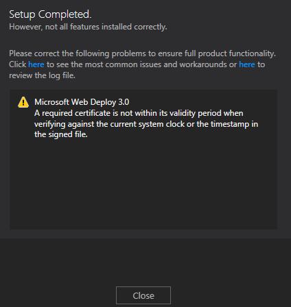 Visual Studio 2012 - Ultimate Error 7