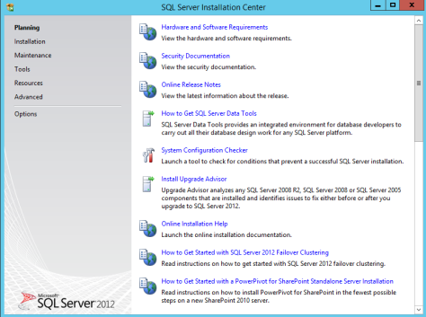 Microsoft SQL SERVER 2012 Installation 1