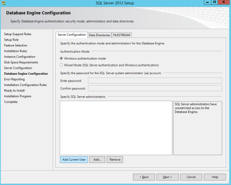 Microsoft SQL SERVER 2012 Installation 20