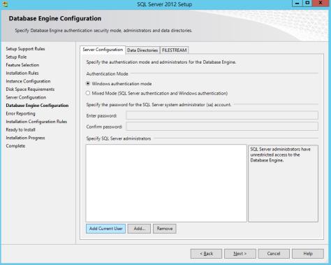 Microsoft SQL SERVER 2012 Installation 20