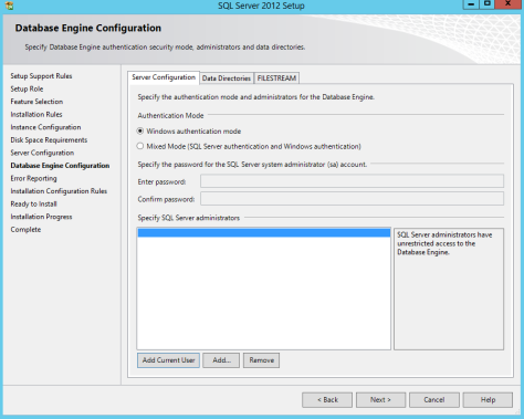 Microsoft SQL SERVER 2012 Installation 21