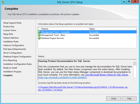 Microsoft SQL SERVER 2012 Installation After Installing NetFx3