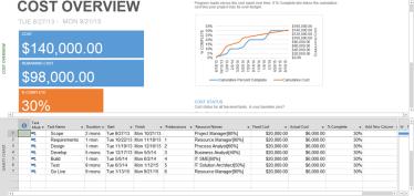 MS Project 2013 - Gantt Chart